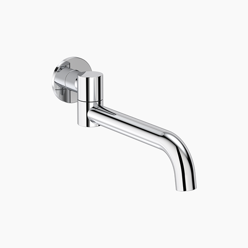 Clark Round Swivel Bath Outlet - Chrome - The Blue Space