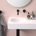 Clark Round Wall Basin Right Hand Shelf 600mm No Tapholes online at The Blue Space