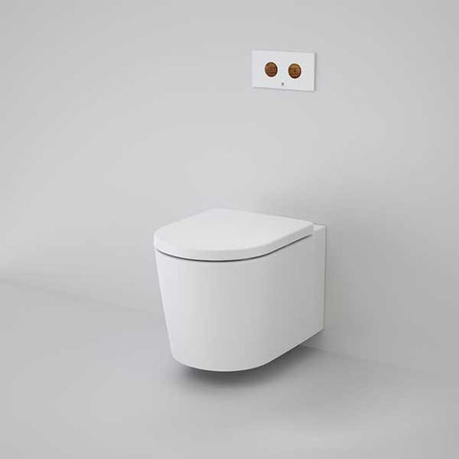 Caroma Elvire Cleanflush Wall Hung Invisi Series II Toilet Suite 847910W online at The Blue Space