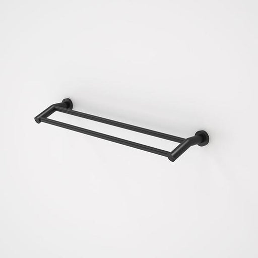 Caroma Cosmo Metal Double Towel Rail - Matte Black Online at The Blue Space