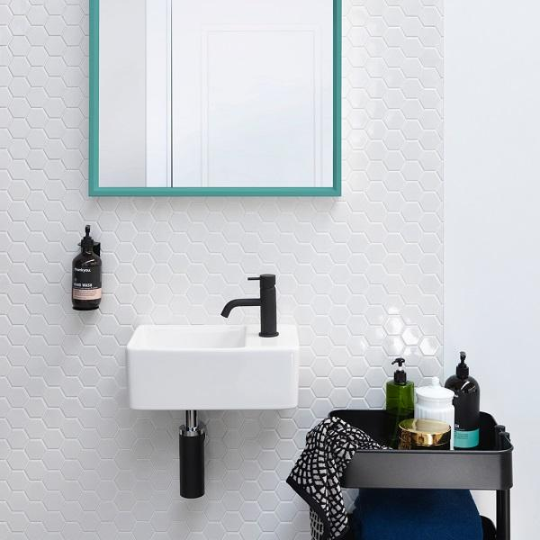 Clark Square Hand Wall Basin One Taphole Online at The Blue Space