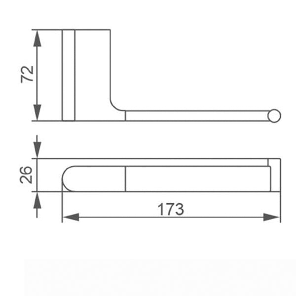 Technical Drawing - Nero Vitra Toilet Roll Holder - Brushed Nickel