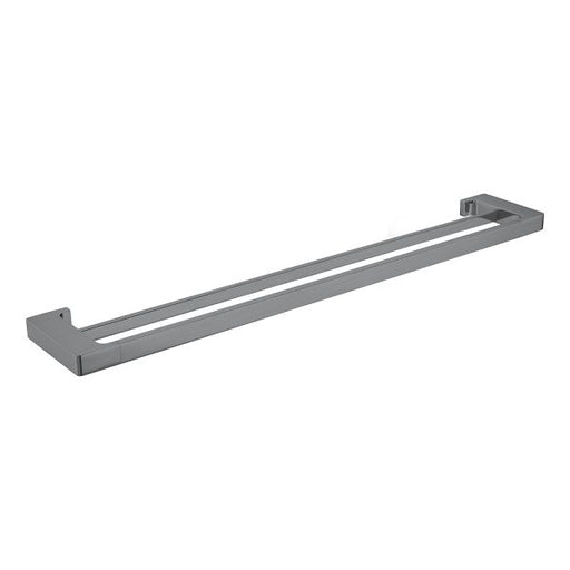 Nero Pearl/Vitra Double Towel Rail 800mm - Gun Metal Grey