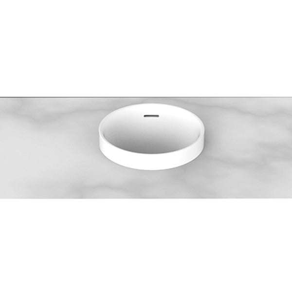 ADP Luka Semi Inset Solid Surface Basin White