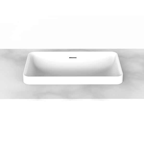 ADP Zeya Solid Surface Basin in gloss or matte white online at The Blue Space