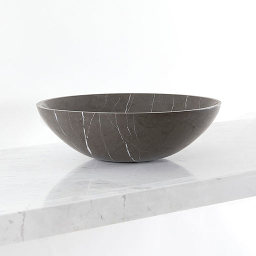 Gallaria Amate Black Stone Marblure Vessel Wash Basin - Stone from Iran - The Blue Space