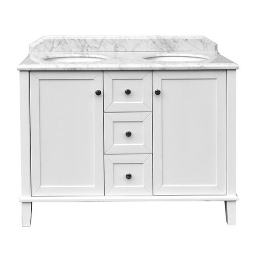 Turner Hastings Coventry 120 x 55 Double Bowl Vanity With White Marble Top - The Blue Space