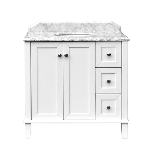 Turner Hastings Coventry 90 x 55 Vanity With White Marble Top - The Blue Space