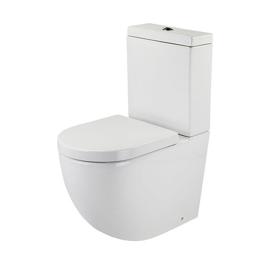 Gallaria Danza Back To Wall Rimless Toilet Suite with Thick Seat - The Blue Space