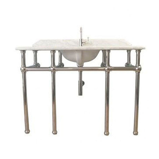 Turner Hastings Mayer Single Washstand with 120 x 55 Real Carrara Marble Top Online at The Blue Space