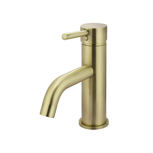 Meir Round Tiger Bronze Basin Mixer with Curved Spout - The Blue Space