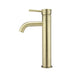 Meir Round Tall Tiger Bronze Basin Mixer with Curved Spout Side View - The Blue Space
