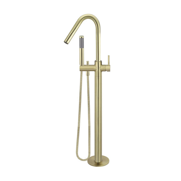 Meir Freestanding Round Bath Mixer with Hand Spray - Tiger Bronze online at The Blue Space