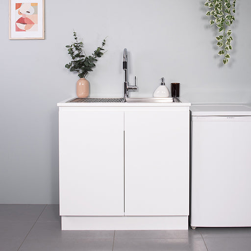 ADP All-in-One Pure Silk 900mm Kitchenette Cabinet Online at The Blue Space