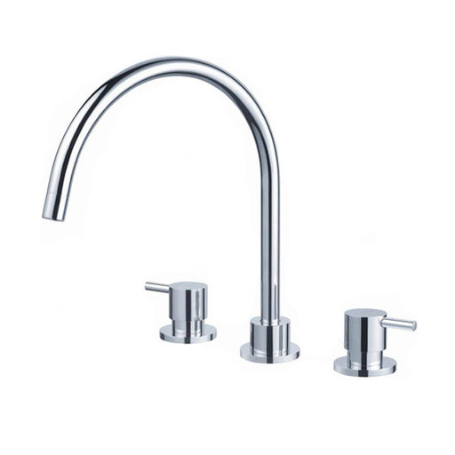 Meir 3 Piece Kitchen Sink Set - Chrome - The Blue Space