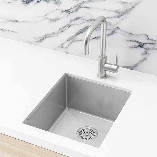 Meir Single Bowl PVD Kitchen Sink 440mm - Brushed Nickel online at The Blue Space