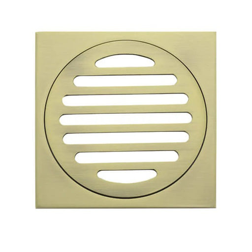 Meir Square Floor Grate Shower Drain 100mm Outlet - Gold online at The Blue Space
