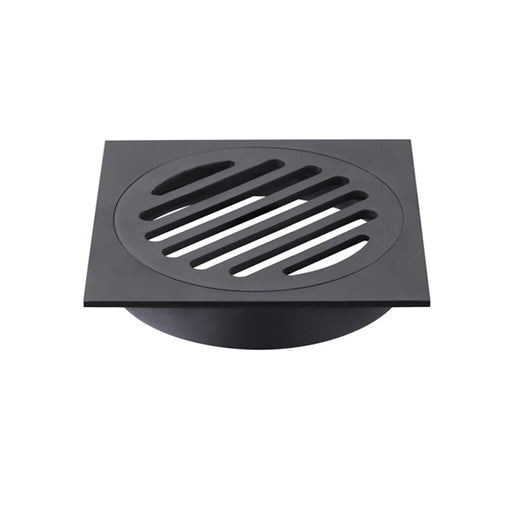 Meir Square Floor Grate Shower Drain 100mm Outlet - Matte Black online at The Blue Space