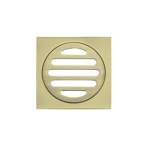 Meir Square Floor Grate Shower Drain 80mm Outlet - Gold online at the Blue Space
