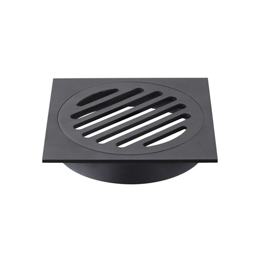 Meir Square Floor Grate Shower Drain 80mm Outlet - Matte Black online at the Blue Space
