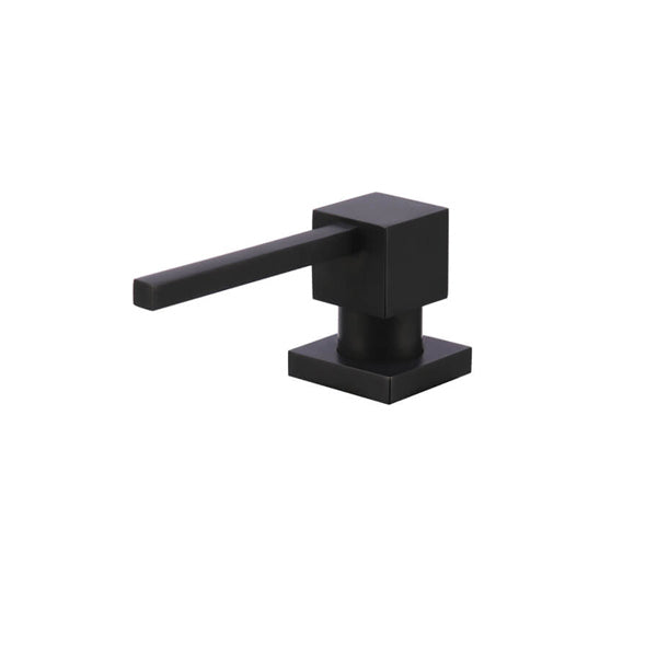 Meir Square Matte Black Soap Dispenser - The Blue Space
