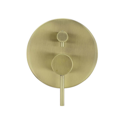 Meir Round Tiger Bronze Mixer with Diverter - The Blue Space