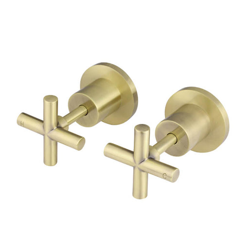 Meir Round Jumper Valve Tiger Bronze Wall Top Assembly Taps - The Blue Space