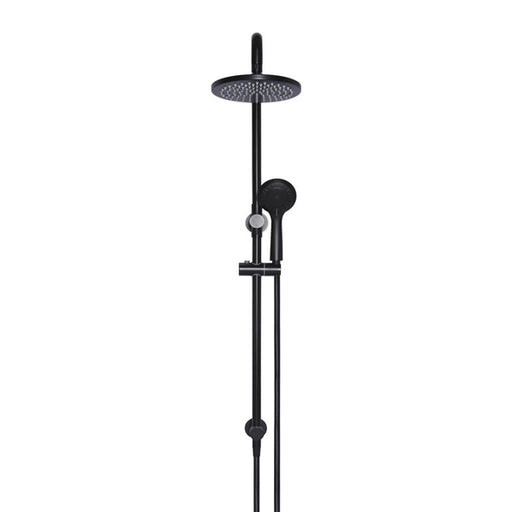 Meir Round 2-in-1 Matte Black Shower Rail Set