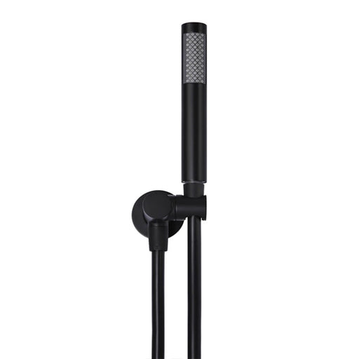 Meir Round Hand Shower on Bracket - Matte Black online at The Blue Space - Black Shower Wand