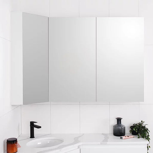 ADP Offset Corner Mirror Shaving Cabinet - The Blue Space