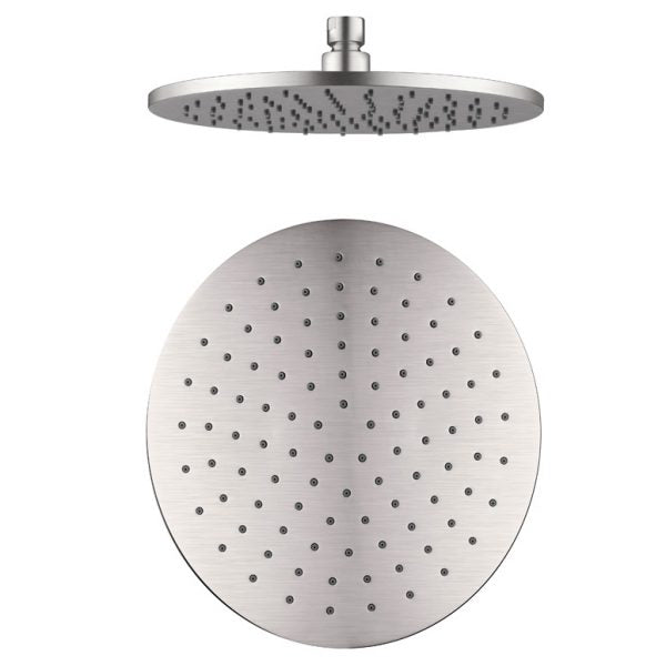 Nero Round Shower Head 250mm - Brushed Nickel online at the Blue Space