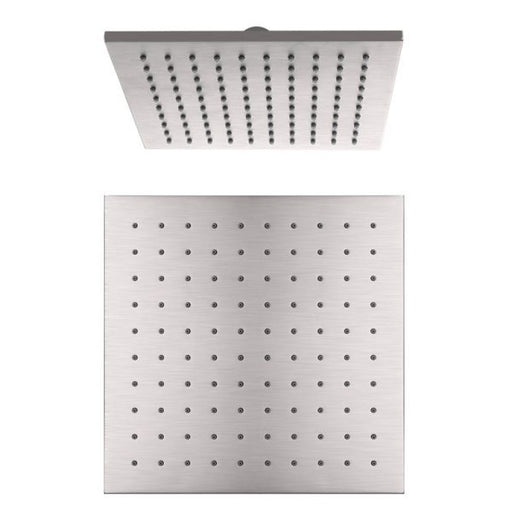 Nero Square Shower Head 250mm - Brushed Nickel online at The Blue Space