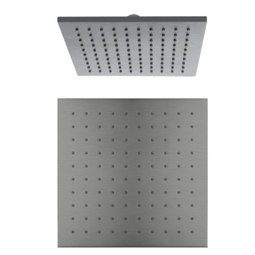 Nero Square Shower Head 250mm - Gun Metal Grey online at The Blue Space