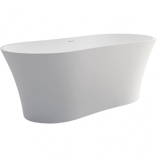 Fienza Orpheus Matte White Stone Freestanding Bath 1650mm at The Blue Space