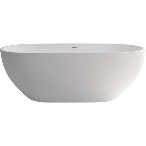 Fienza Nero 1780mm Matte White Stone Bath at The Blue Space