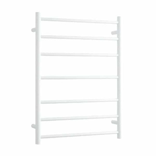 Thermogroup 7 Bar Thermorail White Satin Heated Towel Ladder at The Blue Space