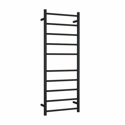 Thermogroup 10 Bar Thermorail Matte Black Straight Round Heated Towel Ladder at The Blue Space