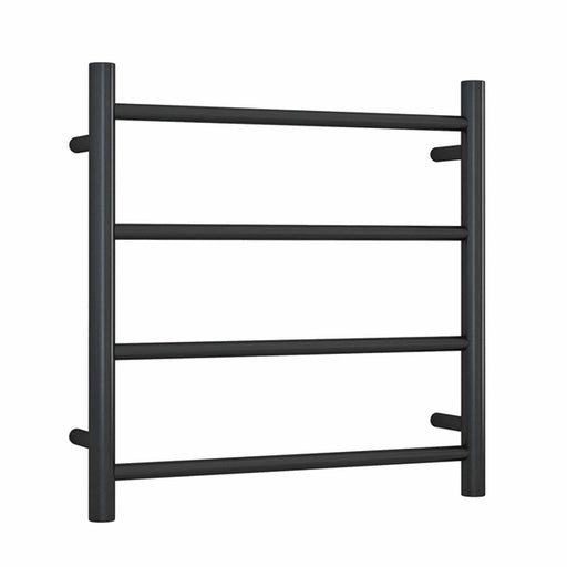 Thermogroup Thermorail Matte Black Straight Round Ladder Heated Towel Rail