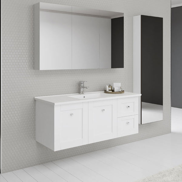 Timberline Victoria Wall Hung Vanity 750mm - 1500mm with Alpha Ceramic Top online at The Blue Space