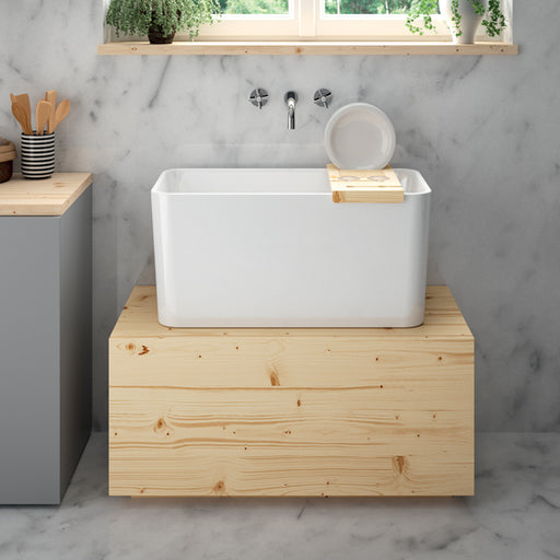 Turner Hastings Large Tribo 60 x 42 Fine Fireclay Kitchen Sink online at The Blue Space