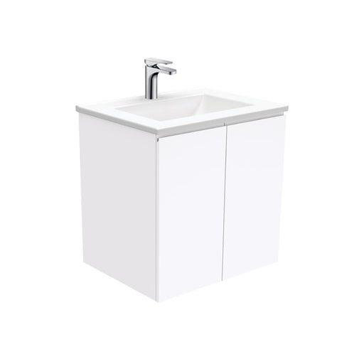 Fienza Vanessa Fingerpull Wall Hung Vanity 600mm White