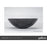 Gallaria Viteri Stone Marblure Vessel Wash Basin - luxury black stone basin - The Blue Space