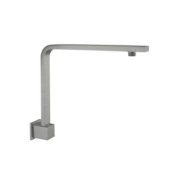 Nero Square Swivel Shower Arm 350mm - Gun Metal Grey - The Blue Space