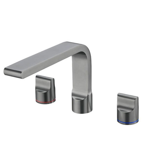 Nero Pearl Basin Set - Gun Metal Grey - Three piece tapware online at The Blue Space