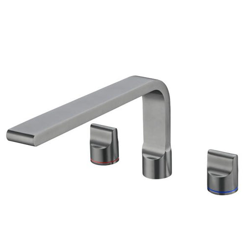 Nero Pearl Bath Set with Swivel Spout - Gun Metal Grey online at The Blue Space