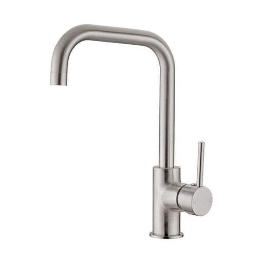Nero Dolce Square Kitchen Mixer - Brushed Nickel - The Blue Space