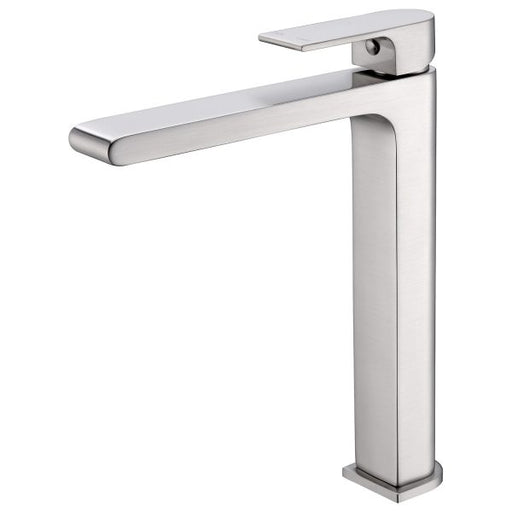 Nero Vitra Tall Basin Mixer - Brushed Nickel online at The Blue Space