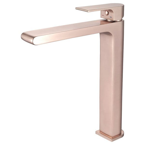Nero Vitra Tall Basin Mixer - Brushed Rose Gold online at The Blue Space