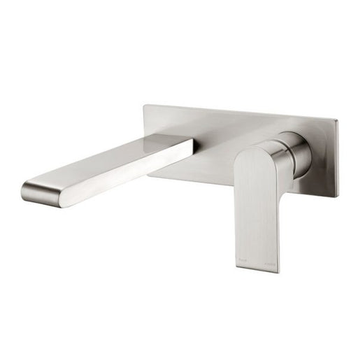 Nero Vitra Wall Basin Mixer - Brushed Nickel online at The Blue Space