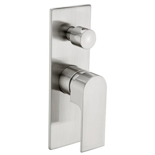 Nero Vitra Shower Mixer with Diverter - Brushed Nickel online at The Blue Space